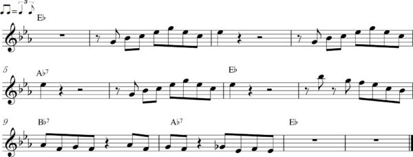 管楽器のアップテンポのフレーズ7