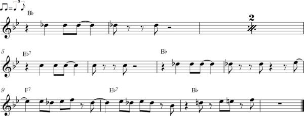 管楽器のアップテンポのフレーズ8