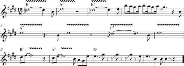 ブルースハープのスローのフレーズ6